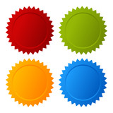 Vector coloured guarantee blank seals set