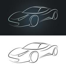 trace automobile sportive