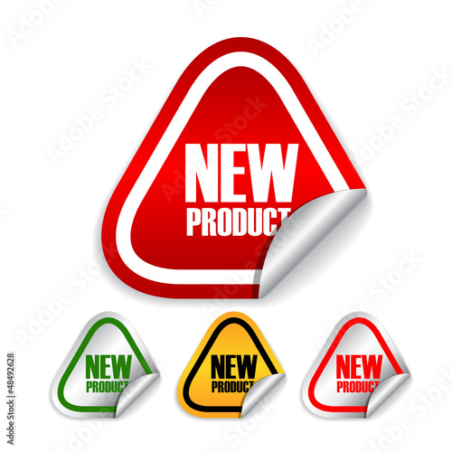 New product vector labels set