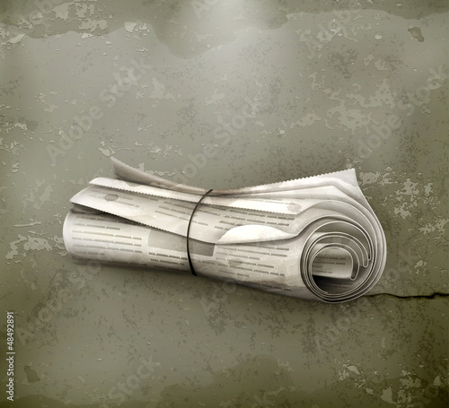 Rolled Newspaper, old-style