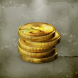 Stack of coins, old-style