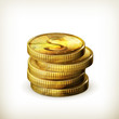 Stack of coins, old-style isolated