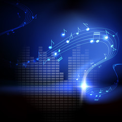 Vector background with musical notes