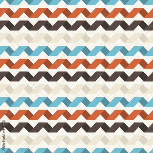 Seamless retro geometric pattern. - 48493013