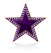 purple diamond star