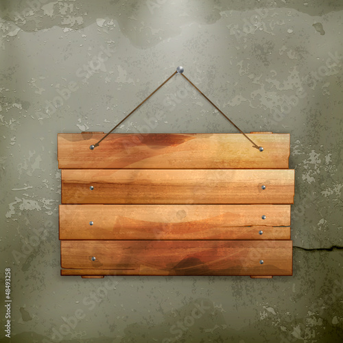 Wooden board, old-style