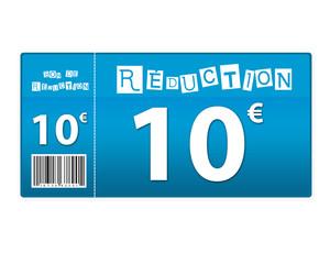 bon de réduction - 10 euros