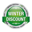 winter discount green silver button