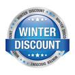 winter discount blue silver button
