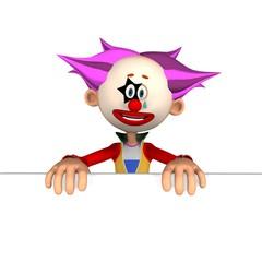 Schild Clown