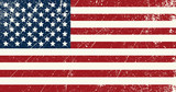 Fototapety USA flag vintage