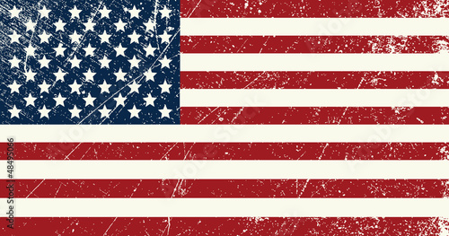 Fototapety, obrazy : USA flag vintage