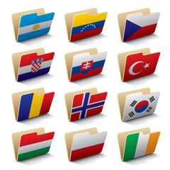 World folders icons 3