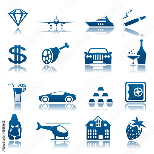 Luxury life icon set