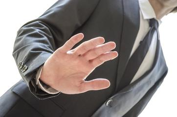 Man refusing an offer