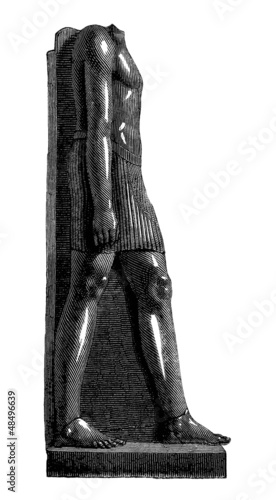 Standing Pharaoh - Egyptian Sculpture