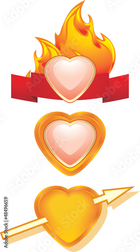 Hearts. Three icons for design