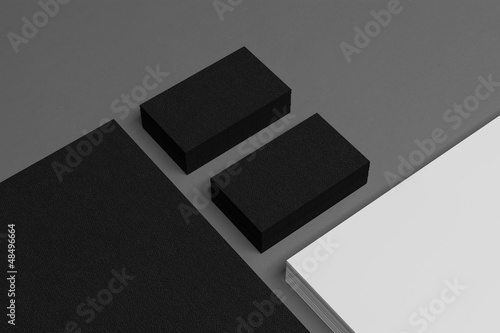 Blank corporate identity business card