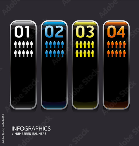Metal frame and color Glass button. Vector illustration.