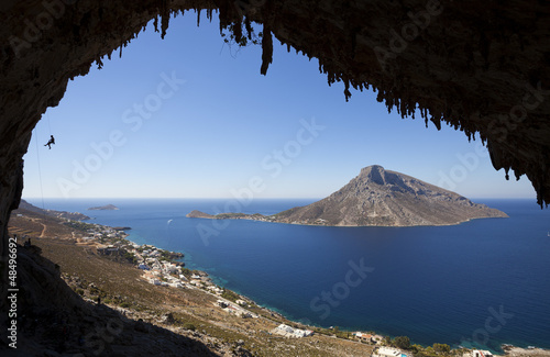 Rock climbing, Kalymnos Island, Greece