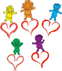 kids hearts