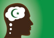 Thinking Head- depicting Religious Person, muslim, islam