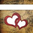Love grunge textured background