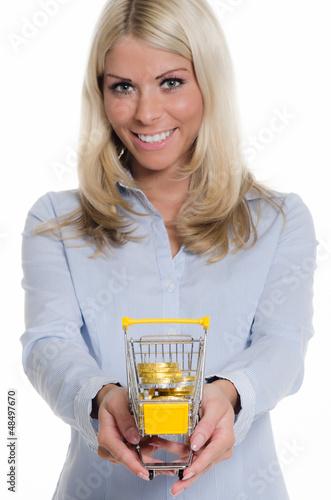 beim einkaufen gespart