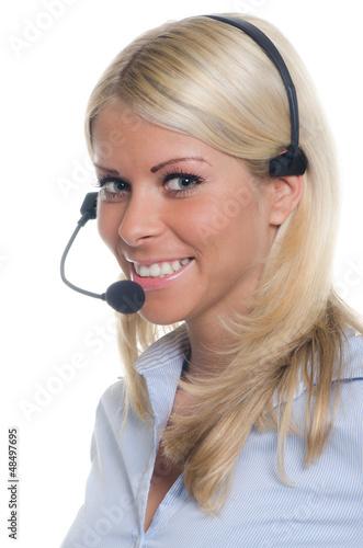 junge telefonistin