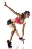 fitness woman exercising aerobic