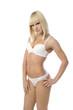 Portrait of a girl in white lingerie
