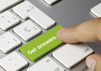 Get answers keyboard key. Finger