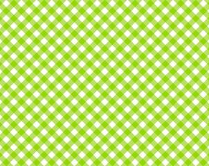 Grün & Weiß karierte Tischdecke mit diagonalen Streifen