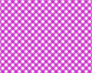 Pink & Weiß karierte Tischdecke mit diagonalen Streifen