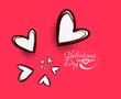 valentine's day background, vector illustration.