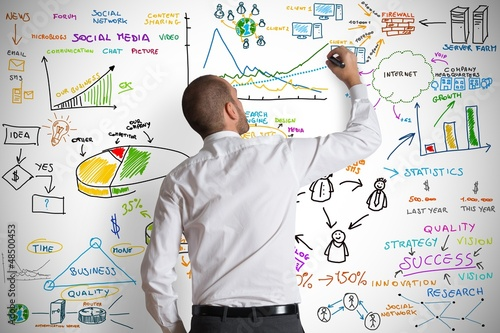 Leinwanddruck Bild Modern business concept