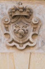 Historical palace. Galatina. Puglia. Italy.