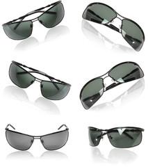 Collection of black men sunglasses.
