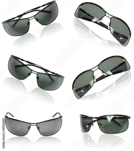 Collection of black men sunglasses.