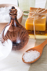 Handmade soap and sea salt