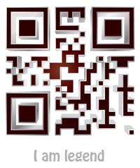 "qr code of ""i am legend"""