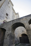 Inside yard of Tarascone Castle in France