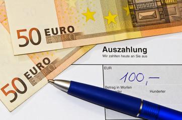 Auszahlung 100 Euro