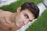 Homme, modèle, jeune, beau, portrait, masculin, mâle