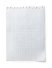 Blank checkered notepad page