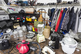 Interior garage sale, housewares, clothing, and more.