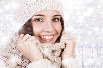 Winter beautiful girl