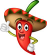 chili pepper cartoon thumbs up