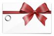 Geschenkkarte Gutschein mit Schleife