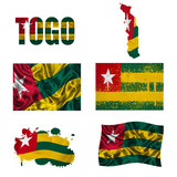 Togo flag collage